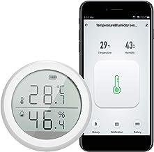Festnight Termómetro WiFi Higrómetro Medidor de sensor de temperatura de humedad inteligente con alerta de notificación de aplicación para el hogar Humidor de cigarros de garaje para mascotas