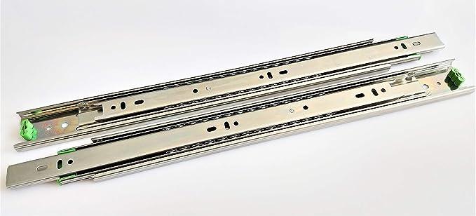 Schubladenschienen 45mm Vollauszüge Kugelgelagerte Vollauszug Selbsteinzug