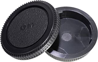 CamDesign Rear Lens Cap and Body Cap Set Compatible with Olympus OM System fits OM-1, OM-2, OM-3, OM-4, OM-10, OM-20, OM-30, OM-40, OM-G cameras and OM lens systems