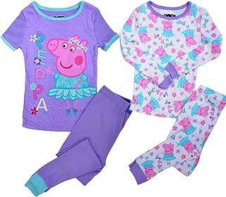 53d46760 Peppa Pig Toddler Girls' Ballerina 4 Piece Cotton Pajama Set ...