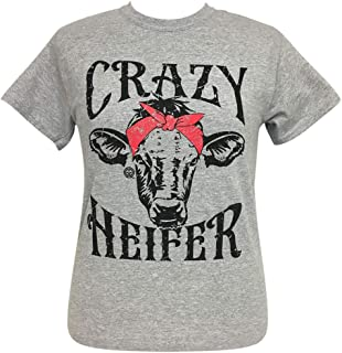 Crazy Heifer Sport Grey Short Sleeve Tee
