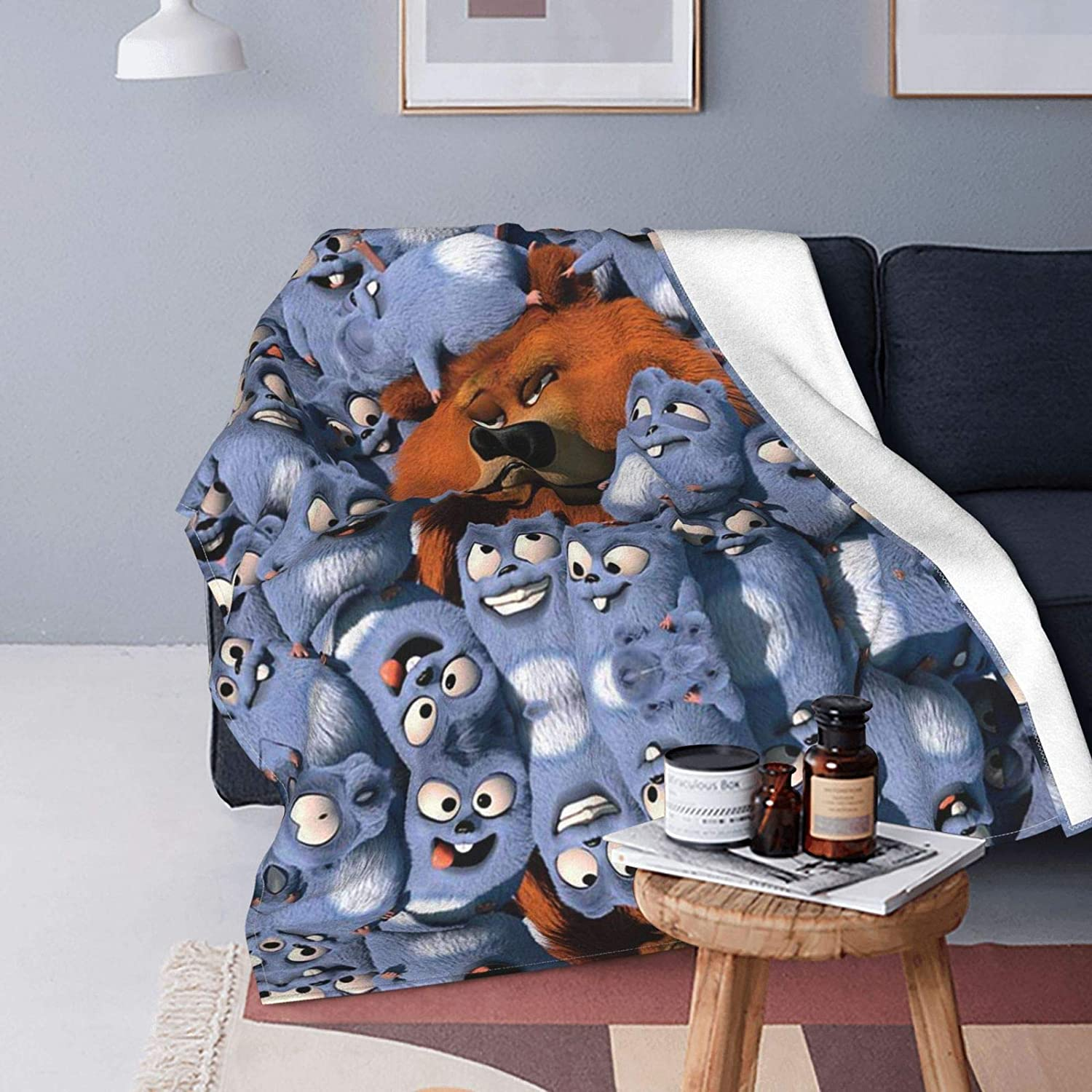Glgifts Grizzy 5% OFF and The Lemmings Gorgeous Digital Printed Warm Soft Mi