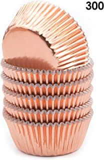 Bakuwe Mini Foil Cupcake Liners Rose Gold Muffin Baking Cups, Pack of 300