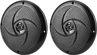 Alto-falantes marítimos, sistema de som estéreo de áudio estéreo externo de 16,5 cm, 2 vias, 60 W, à prova d'água e resist...