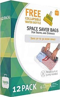 Travis Travel Storage bags. vacuum space saver compression, no pump needed.