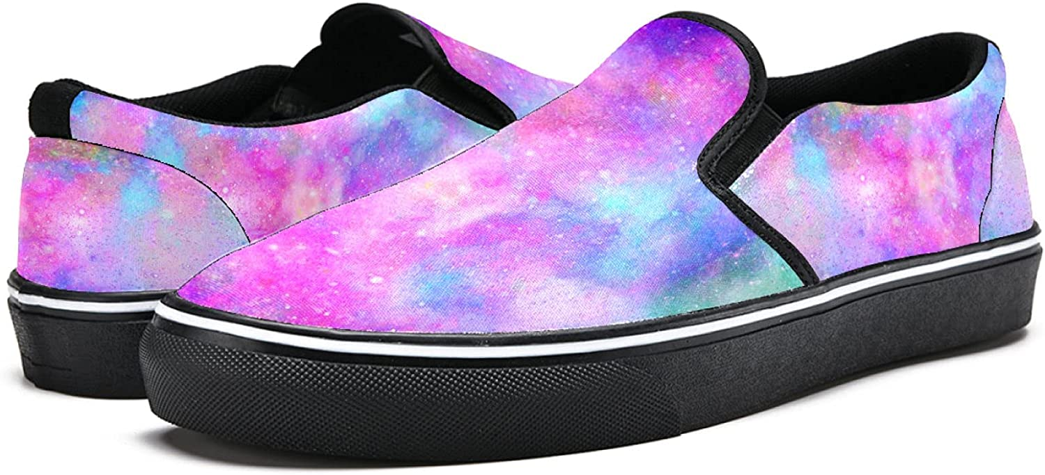 Men's Classic Slip-on Canvas Shoe Fashion Sneaker Casual Walking Shoes Loafers 12 Colourful Galaxy