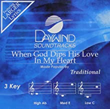 When God Dips His Love In My Heart Accompaniment/Performance Track