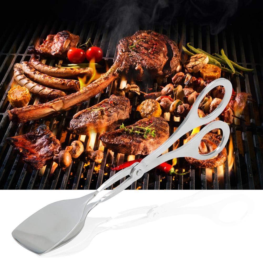 Nunafey Pince à Pain à Surface Lisse, Pince à Barbecue, Facile à Nettoyer pour la Cuisine à la Maison(Food Clip) Food Clip