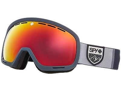 Spy Optic Marshall (Colorblock Gray Hd Plus Bronze w/ Red Spectra Mirror + Hd Plus) Snow Goggles