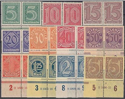 Goldhahn Deutsches Reich Dienst Nr. 22-33 HAN postfrisch  Hausauftragsnr. Briefmarken für Sammler
