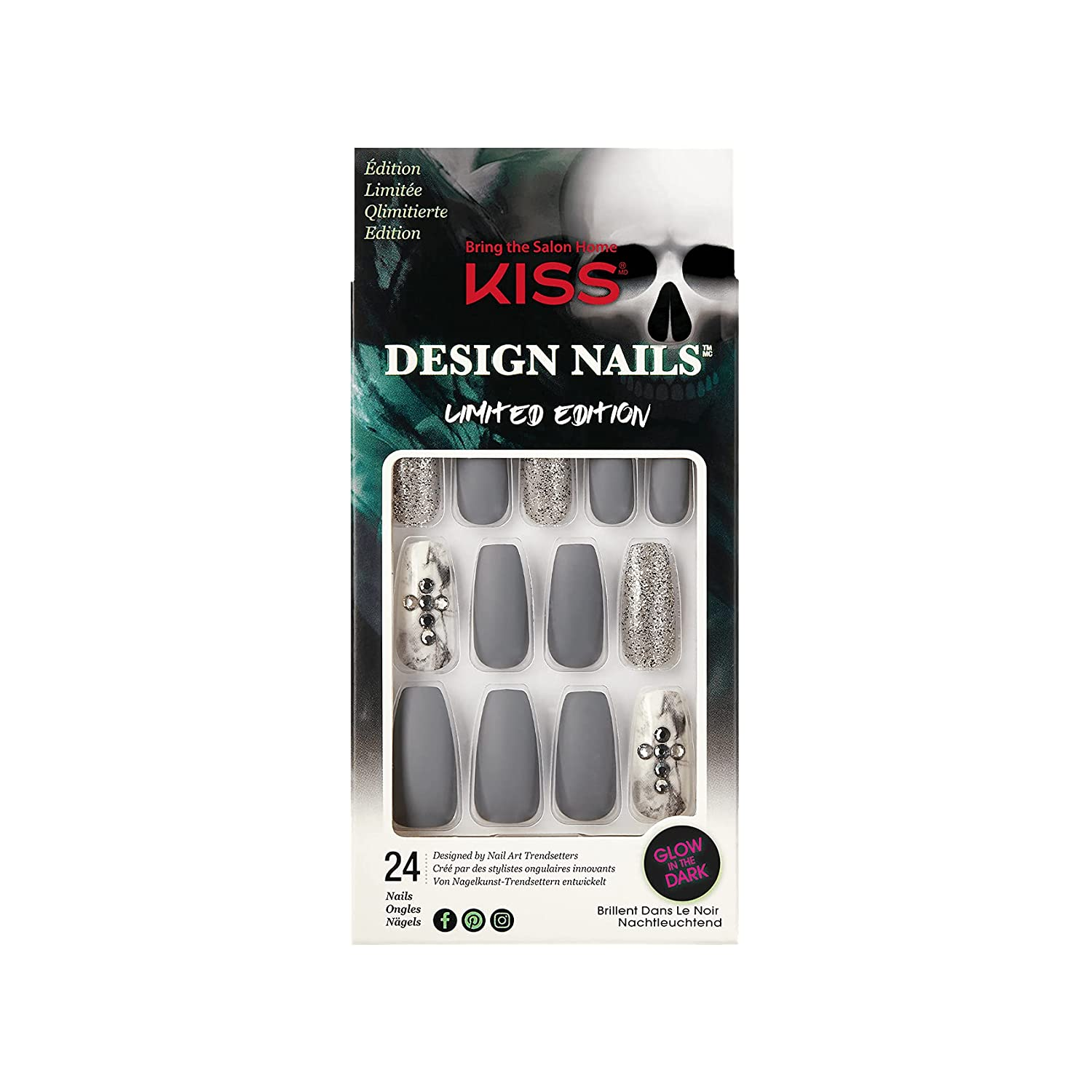 Kiss Gel Fantasy Limited Edition Nails - Limited time trial price Halloween Import Design Howlin
