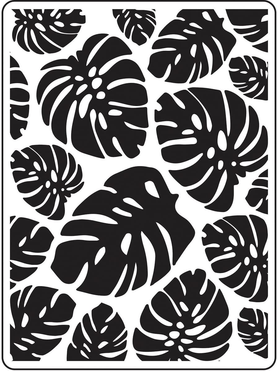 DARICE Embossing Folders: Popular popular Tropical Palm Price reduction Background Multi Leaves