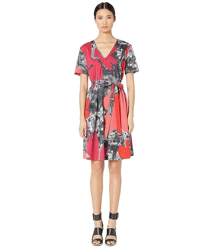 Paul Smith Photo Print Wrap Dress (Brick) Women