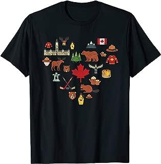 Canadian Vintage Symbols Canada Flag Maple Leaf RCMP T shirt