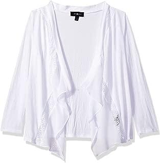 Girls' Big Lacey Open Cardigan Sweater
