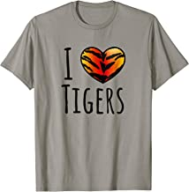 I Love Tigers Shirt, Tiger Stripes Shirt, Tiger Print Heart