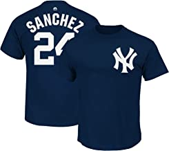 Gary Sanchez New York Yankees MLB Majestic Youth Boys Youth 8-20 Navy Official Player Name & Number T-Shirt