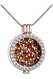 Amello acero inoxidable coin gato Rosegold para coinsfassung joyas de acero esc531e