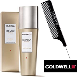 Goldwell Kerasilk CONTROL Smoothing Fluid with brilliant color protection (with Sleek Steel Pin Tail Comb) (2.5 oz / 75 ml)