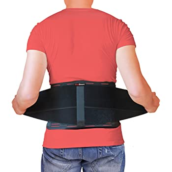 AidBrace Back Brace for Lower Back Pain Relief for Men & Women - Comfortable Belt Support for Herniated Disc, Sciatica, and Scoliosis with Removable Lumbar Pad (L / XL)