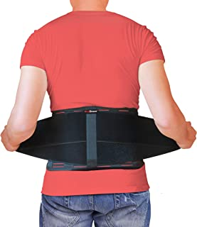 Best AidBrace Back Brace for Lower Back Pain Relief for Men & Women - Comfortable Belt Support for Herniated Disc, Sciatica, and Scoliosis with Removable Lumbar Pad (L / XL) Review
