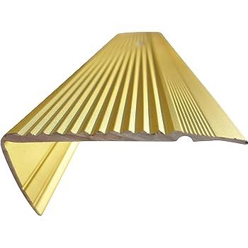 B-Ware 21 mm x 45 mm x 1,10 m Silber verschiedene Gr/ö/ßen Treppenkanten Winkelprofil Treppenwinkelprofil Treppenprofil Treppenstufenprofil