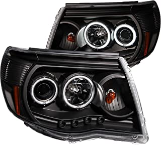 AnzoUSA 121282 Black Clear Projector Halo Headlight for Toyota Tacoma - (Sold in Pairs)