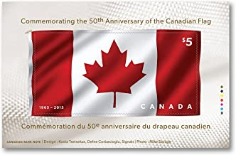 2015 Canadian Flag (50th Anniversary): Souvenir Sheet by Canada Post. Official Postage Stamp