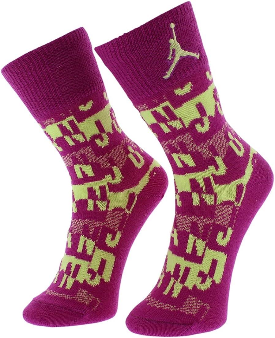 Jordan Retro 4 Girl's 2-Pack Crew Socks 3Y-5Y/7-9