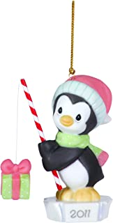 Precious Moments Dated 2011 Penguin Ornament Catch The Spirit of Christmas