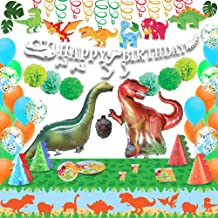 Dinosaur Birthday Supplies 98 PCs All-in-One Party Supplies Decorations for Dino Themed Happy Birthday Celebration