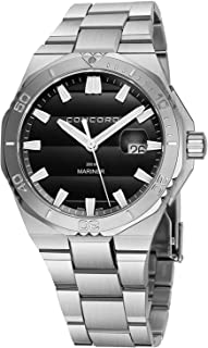 Mariner Mens Stainless Steel Dive Watch Automatic - 43mm Analog Black Face with Second Hand,...