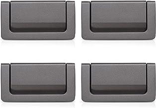 XGzhsa Lade handgrepen, verborgen meubels handgrepen, 4 stuks moderne zinklegering handgrepen voor kasten, kasten, deuren ...