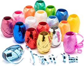 com-four® 18x Ringelband in bunten Farben - 20 m je Rolle - hochwertiges Set Geschenkbänder zum Basteln und Verpacken - Polyband in Geschenkverpackung