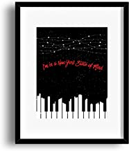 New York State of Mind - Inspired Song Lyrics Print Art - Matted Framed Options