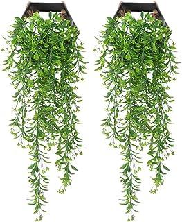 YGSAT 2 Pièces Faux Lierre|Plante Artificielle Lierre|Chute de Lierre|Feuille Artificielle De Lierre|Fausses Glycine Décor...