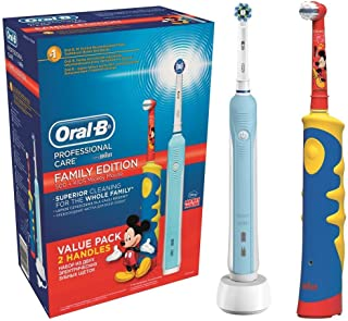 Oral-B D16.513.U + D10.51K PRO 500 CROSSACTION + Stages POWER FAMILY EDITION Diş Fırçası