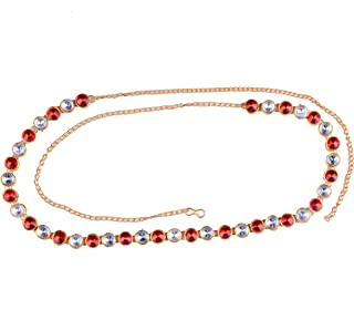 Single Kundan Line Stone Small Designer Belly/Waist/Hip/Belt Chain Kamarband