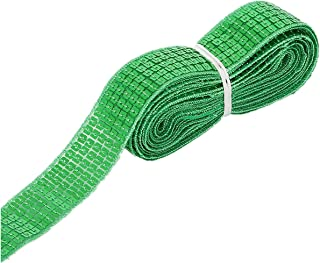 20 Yards 5 Rows Crafts Sequin Flat Glitter Stretch Bling Paillettes Fabric Ribbon Metallic Applique Trim Lace for Dress Embellish Headband Dancing Costume Stage Garments Decoration (Green)