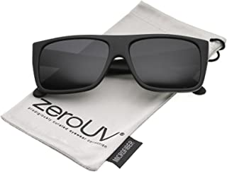 zeroUV - Men's Rubberized Flat Top Wide Temple Square Sunglasses 57mm