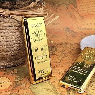 New 1PC Golden Gold Plate 999 Bullion Cigarette Lighter Flame Refillable Butane Gas