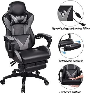 Wondrous Best Executive Vibrating Massage Office Chair With Footrest Spiritservingveterans Wood Chair Design Ideas Spiritservingveteransorg