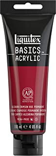 Liquitex BASICS Acrylic Paint, 4-oz tube, Alizarin Crimson Hue