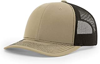 Richardson 112 112P Trucker Mesh Snapback Hat Curved Bill with NoSweat Hat Liner