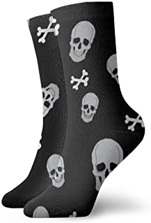 Calcetines deportivos transpirables para hombre y para mujer Calcetines calaveras de poliéster divertidos Smile Smile 30 cm (11.8 pulgadas)