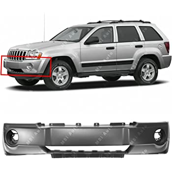 Front BUMPER COVER Primed for 2005-2007 Jeep Grand Cherokee w//Fog Light Holes