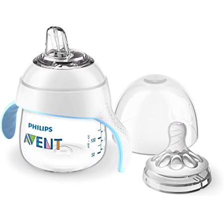 Philips Avent Natural Trainer Sippy Cup with Fast Flow Nipple and Soft Spout, 5oz, 1pk