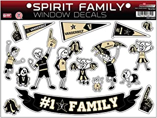 NCAA Vanderbilt Commodores Family Decals Sheet