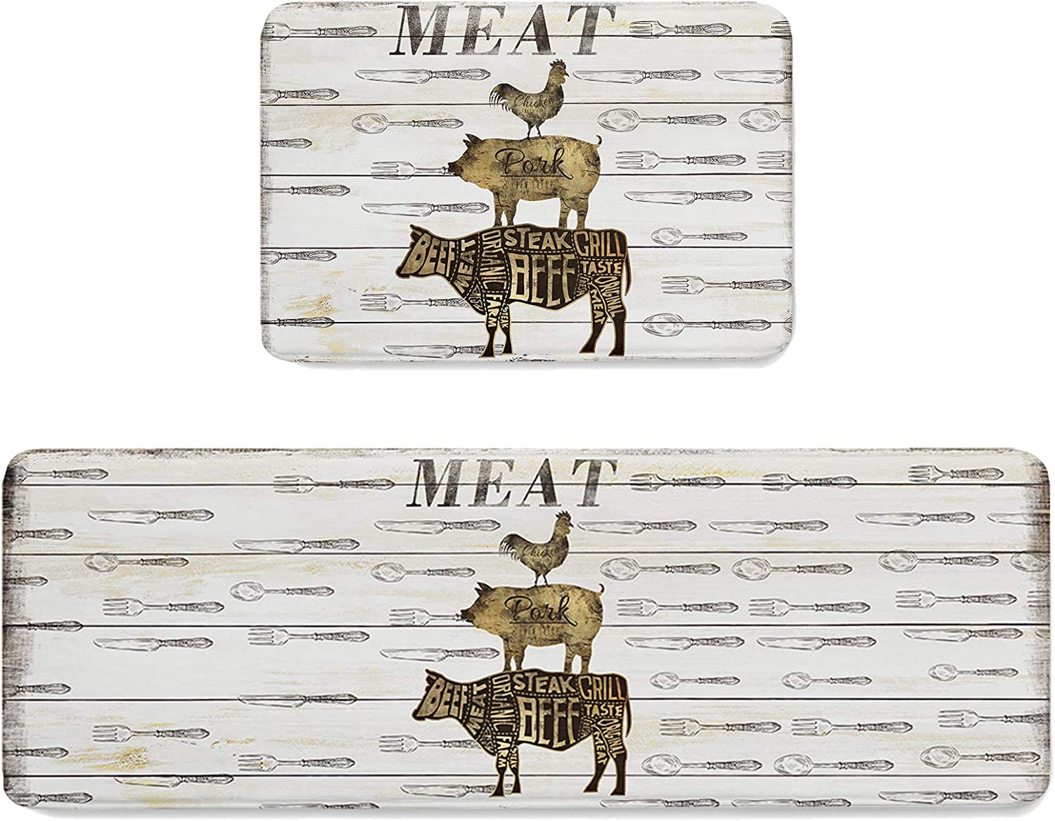 Kitchen Mats Board Time A surprise price is realized sale Pig Cow Chicken Runner for Rug Tableware Laun