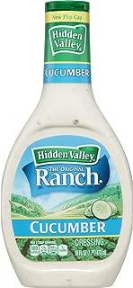 Hidden Valley Cucumber Ranch Salad Dressing & Topping, Gluten Free, 16 Fluid Ounce